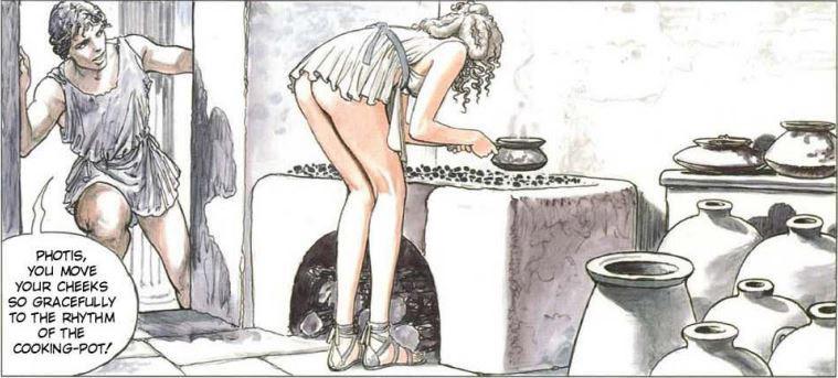 Ilustracije Milo Manara, The Golden Ass, Shreiber and Leser, 1999.,