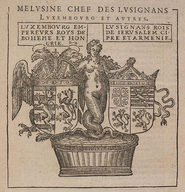 Ilustracija: Meluzina u heraldici Lizinjana,