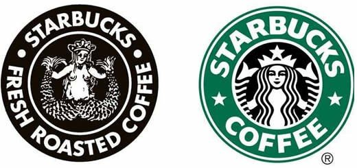 Illustration: Logo of the American coffee company and coffeehouse chain Starbucks, featuring medieval Melusine.
