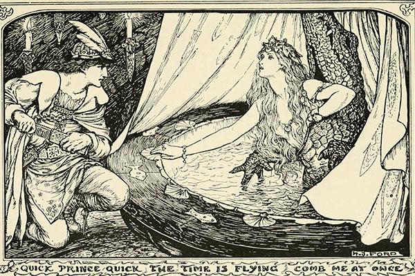 Ilustracija: H.J.Ford, The olive fairy book, 1907.